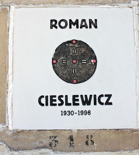 Columbarium of Roman Cieslewicz (1930-1996) - Polish graphic artist and photographer (cmentarz Pere Lachaise)