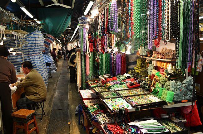 Jade en el mercado de Hong Kong