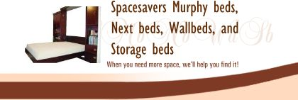 Spacesavers Murphy beds, Next beds, Wallbeds, and Storage beds