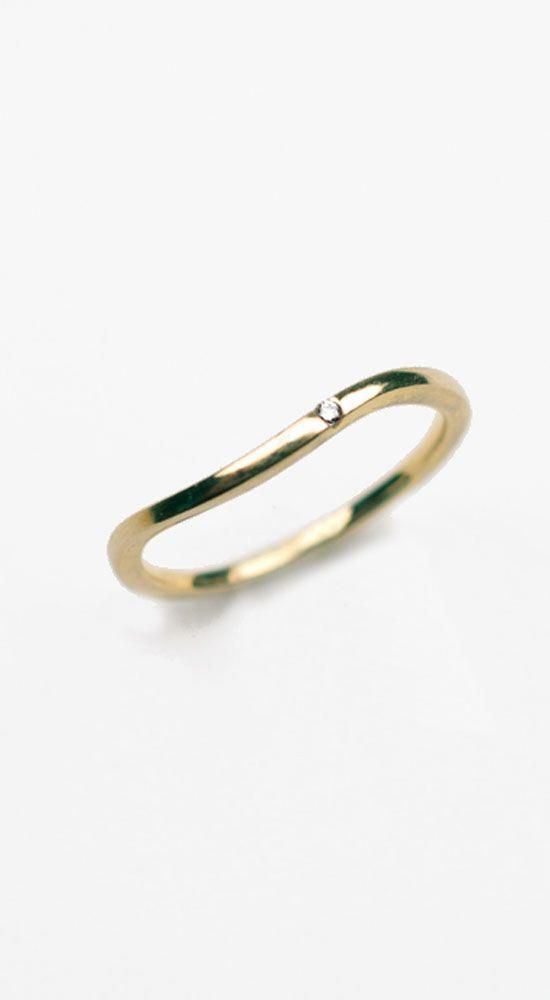 Albeit Jewelry  Curving Band 14K Gold Ring 330  I want it so