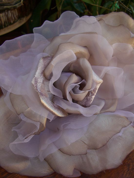 101 best millinery flowers images on pinterest fabric flowers vintage chiffon silk and organdy taupe rose mightylinksfo