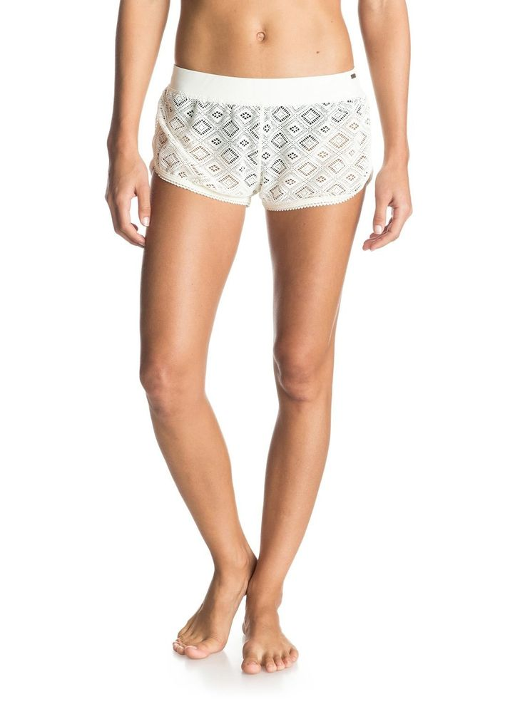 "Roxy ""Fancy Crochet"" Womens White Shorts"