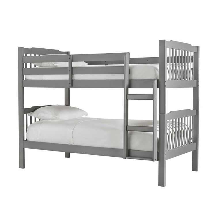 Understated style fuses with clean-lines to round out the Theodore Twin Bunk Bed, a must-have addition to your well-appointed home. Use it to anchor your little one's room in traditional style then pair it with crisp white bedding for a classic look. Its breezy open design blends effortlessly into any aesthetic while its ladder detail and safety guard rail make it the perfect option for sleep-overs. Use it to anchor a minimalist ensemble or add it to a vibrant boho display to level out th...