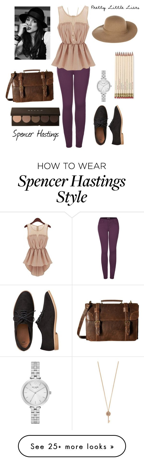 """Spencer Hastings - pretty little liars"" by charactercovers on Polyvore featuring 2LUV, Aéropostale, Kate Spade, Gap, Scully and Armani Jeans"