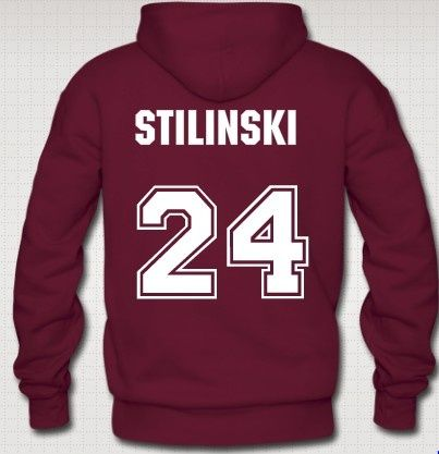 Maroon Hoodie Sweatshirt 24 Stiles Stilinski Teen Wolf