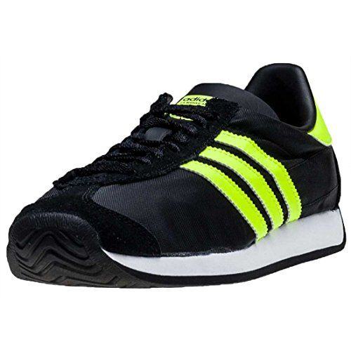 buy popular 85728 fed0e adidas Country Og Mens Trainers Black Lime 7 UK  Amazon most trusted e