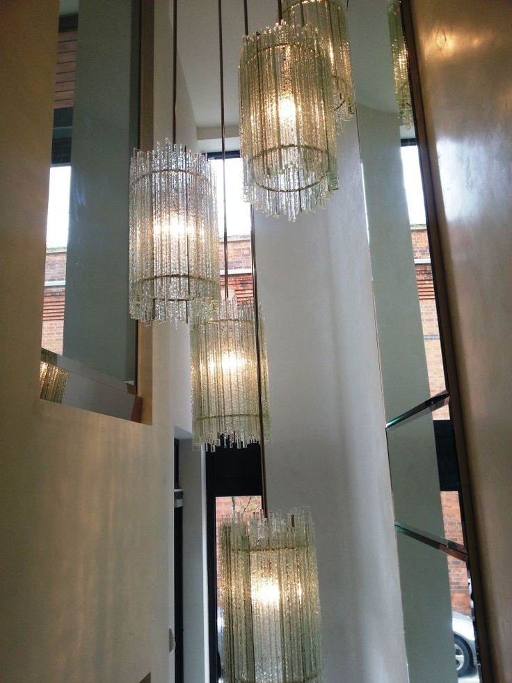 Staircase chandelier designed and made for Louise Bradley.