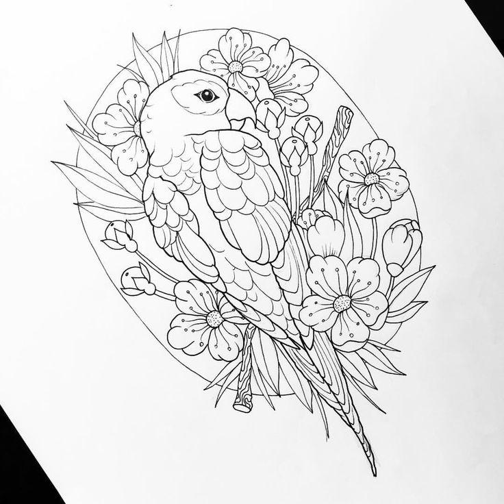 """""""Mi piace"""": 154, commenti: 5 - Dora (@doratattoos) su Instagram: """"Parrot """""""