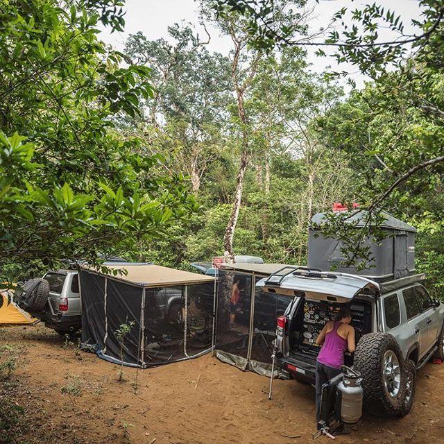Campsite at Parque Nacional El Imposible, #ElSalvador. #OverlandtheAmericas #OverlandEmpire #ProvenOverland #TravelStoke #NeverStopExploring #KeepItWild  #AdventureMobile #HomeIsWhereYouParkIt  #OutsideMagazine #LonelyPlanet #lifeontheroad #OverlandJournal #ExpeditionPortal #NatGeo #NatGeoTravel #NatGeoAdventure