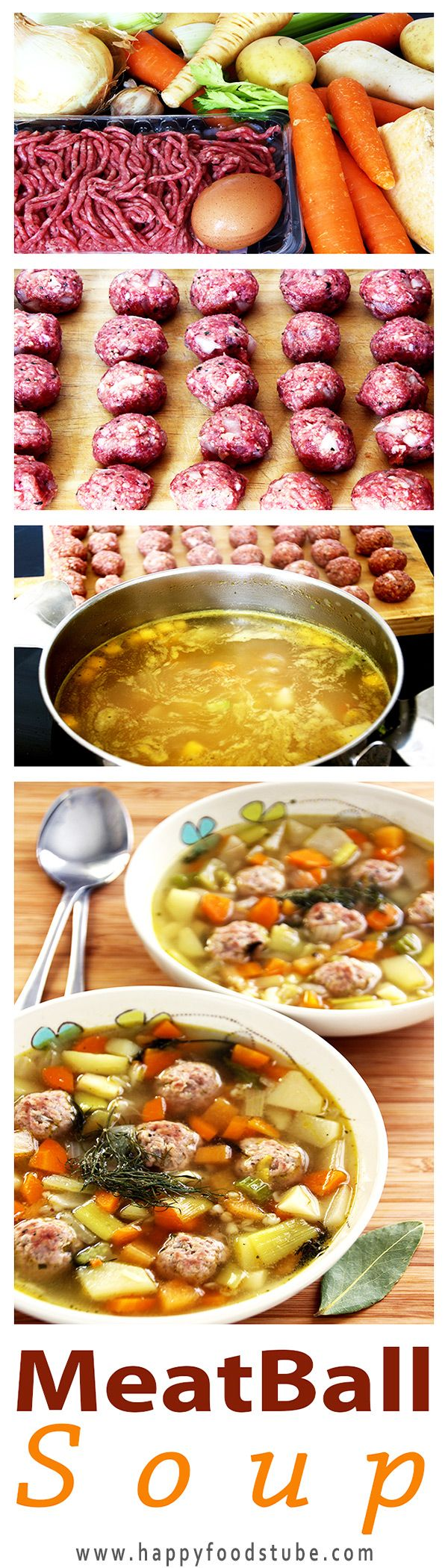 Estonian Meatball Soup (Frikadelli Supp) - Easy soup recipe | happyfoodstube.com