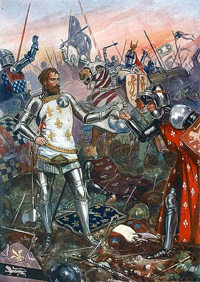 King John of France captured at the Battle of Poitiers