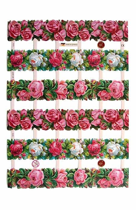 Germany rose borders for paper crafting Valentines