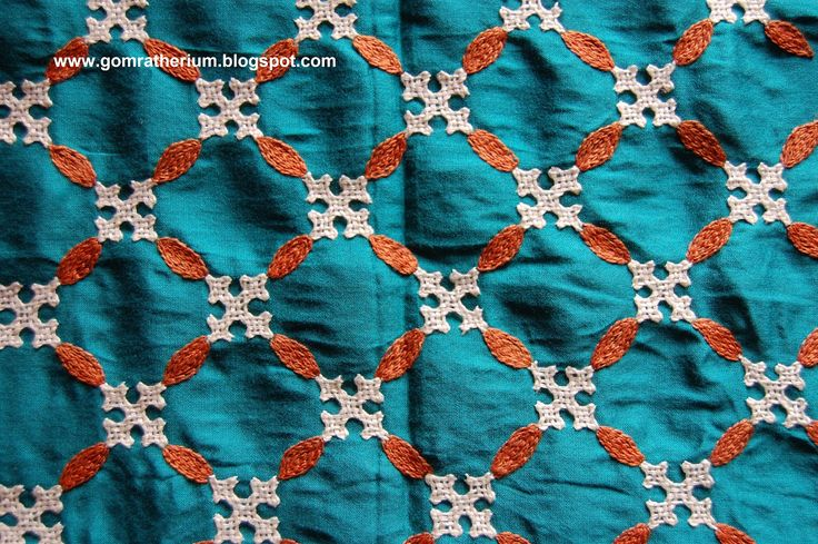 blouse sleeve kutch work . beautiful all over design