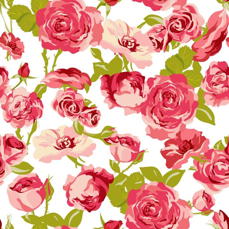 Classical vintage floral seamless pattern, watercolor ... |Vintage Floral Rose Pattern