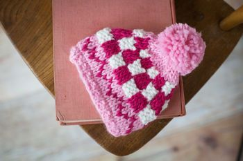 pink bobble hat by blade and rose | notonthehighstreet.com