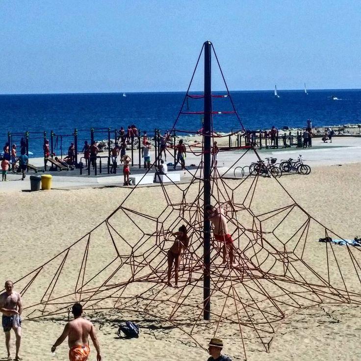 Playground @ the beach in Barcelona