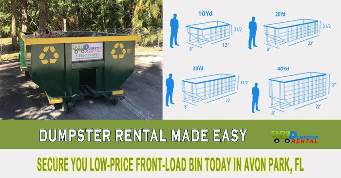 Dumpster Rental Avon Park Fl Dumpster Rental Dumpster Jacksonville Beach