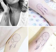 Cute Small Tattoos For Girls With Their Meanings: Tiny Dreamcatcher Tattoos #greattattoosforgirls