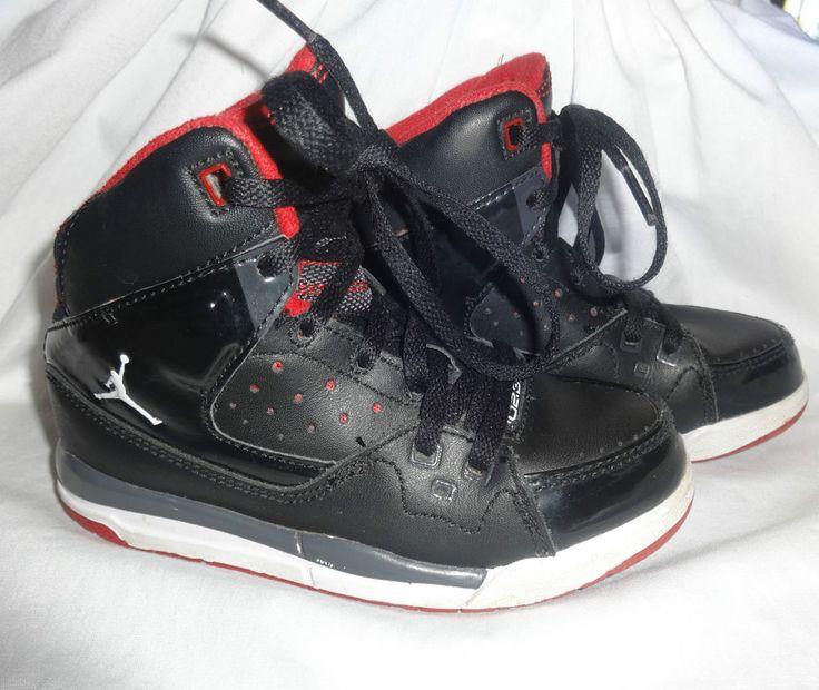Nike Air Jordan Shoes 10.5 Youth Flight SC-1 Black Red Grey High Top 407494-012 #airjordan #Athletic