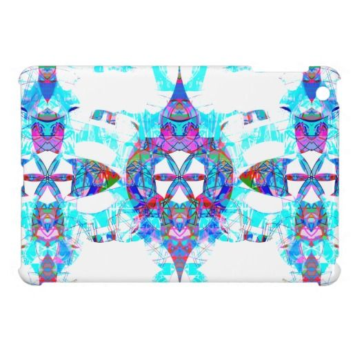 iPad Mini Case | Digital Graffiti Funk | style DB | White and Blues | design by groovygap.com | #whitesexyblue #brightaccents