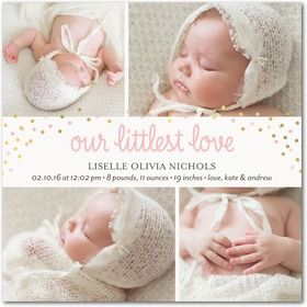 Baby Girl Birth Announcements & Photo Announcements for Girls at Tiny Prints