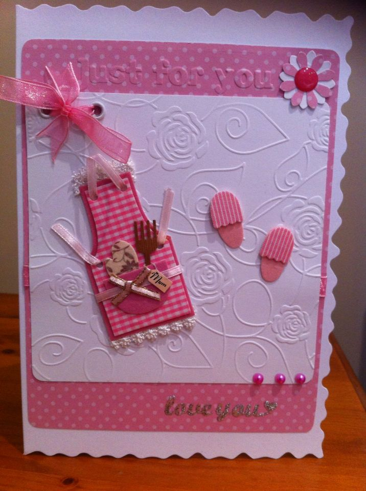 More fun embossing - a card for mum - any occasion 2015