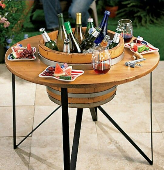 17 best images about outdoor bar coolers on pinterest for Outdoor coffee table with cooler
