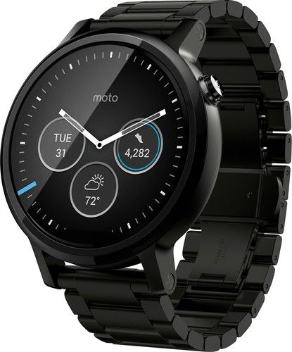 Motorola - Moto 360 2nd Generation Men's Smartwatch 46mm Stainless Steel - Black