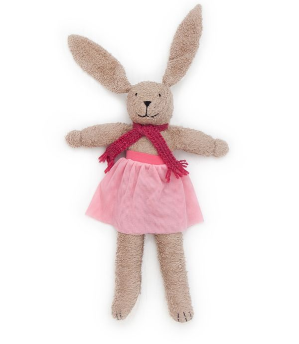Our Organic Soft Plush Toy Bunny 'Marie' makes a fantastic Cristmas Present, even though it might  be a little bit big as stocking filler.