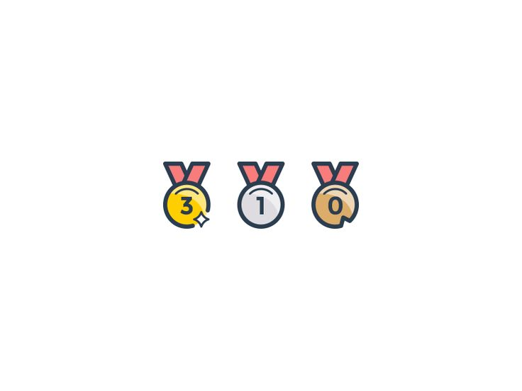 Points medal icons