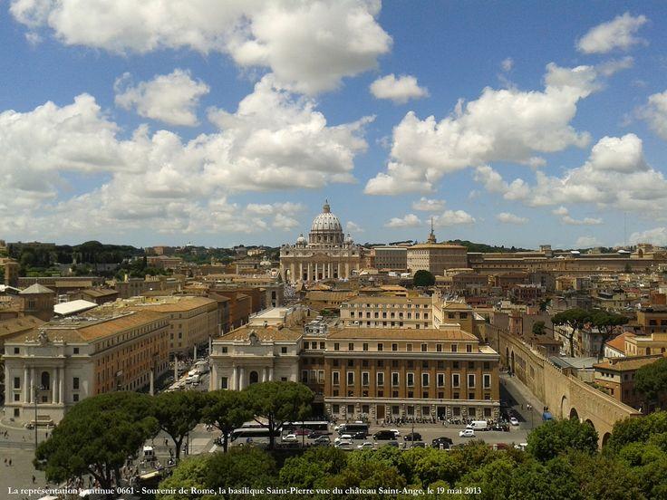 La représentation continue 0661 - Souvenir de Rome, la basilique Saint-Pierre vue du château Saint-Ange, le 19 mai 2013