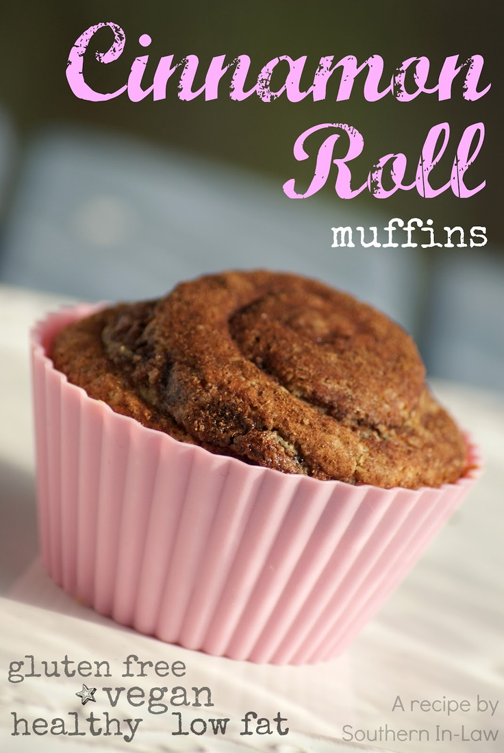 Southern In-Law: Recipe: Cinnamon Roll Muffins (easily GF and vegan!) - Healthy, low fat, gluten free