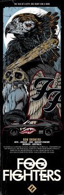 Movie Posters : Rhys Cooper Foo Fighters Australia Tour Posters