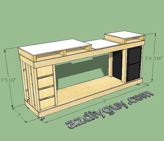 sketchup modeling my miter saw workbench with free 3d cad software, diy, how to, tools, It s fun to see it modeled and clean in 3D with the real workhorse stabled in my workshop