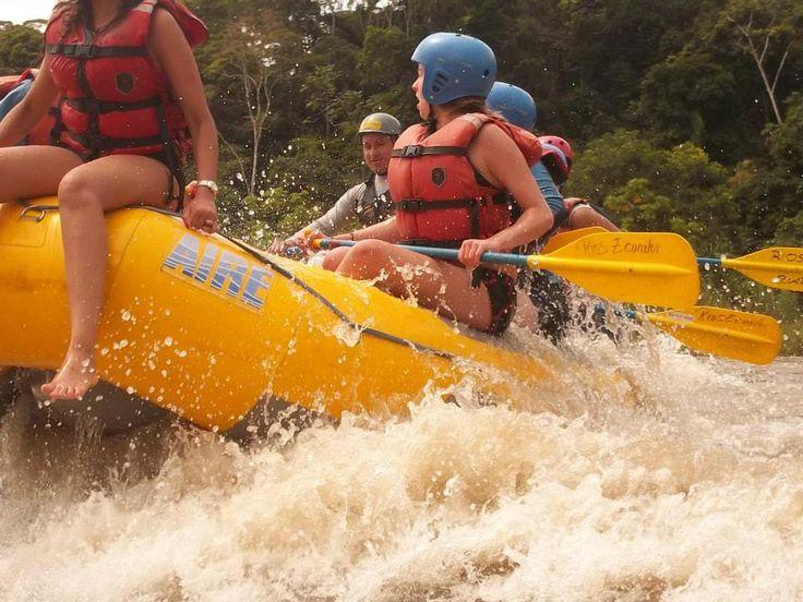White water rafting near Tena.