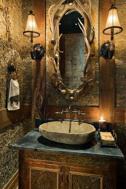 Check out this different bathroom theme - great for a cabin!
