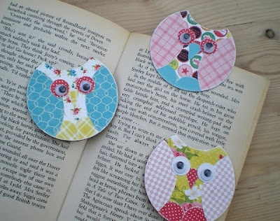 adorable owl bookmarks...tutorial at the blog...