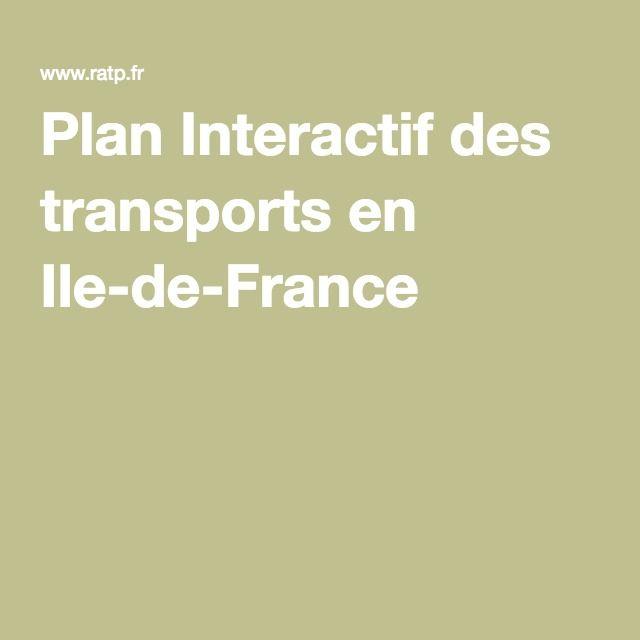 Plan Interactif des transports en Ile-de-France