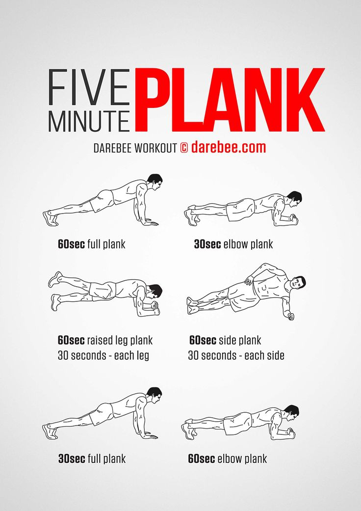 Workout of the Day: Five Minute Plank  #darebee #workout #fitness