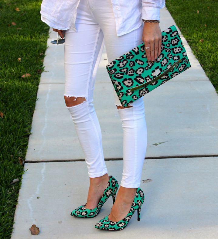 Matching leopard print!