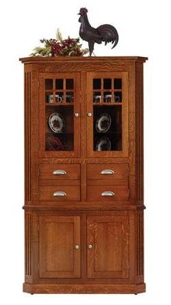 Mission Craftsman Corner Hutch In Oak 33 Off Amish