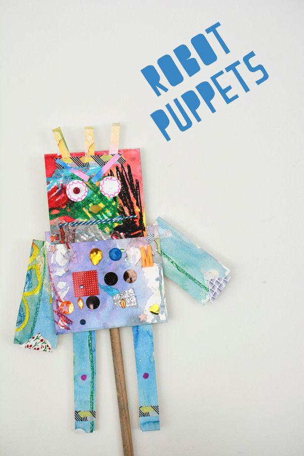 kindergarten art ideas (robot puppets, rain sticks, and more!)