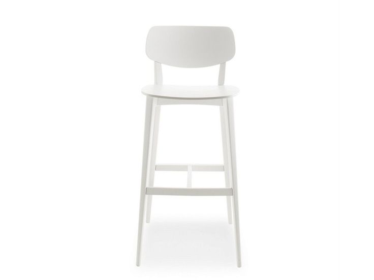 LACQUERED WOODEN COUNTER STOOL DOLL WOOD | COUNTER STOOL | BILLIANI