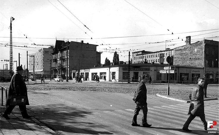 widok z Teatralki, rok 1968