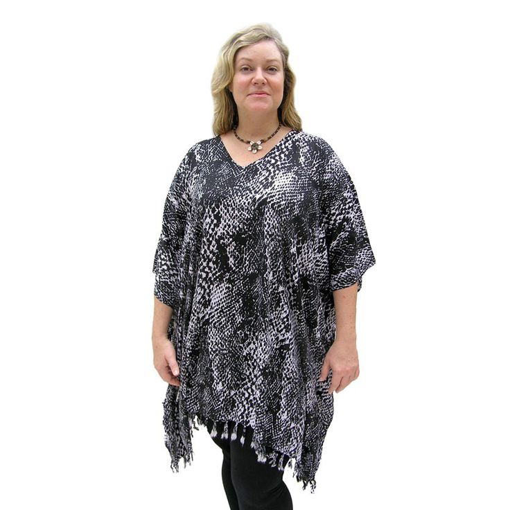 Sundrenched Snake Skin Cover Up:Black - $25.00 #tunic #coverup