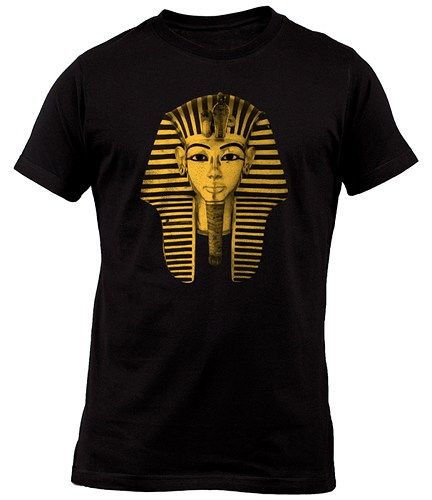 King Tut Tutankhamun Pharaoh Egypt Ancient Egyptian Black T-Shirt For Mens