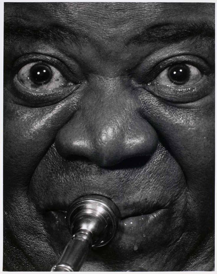 Louis Armstrong by Philippe Halsman