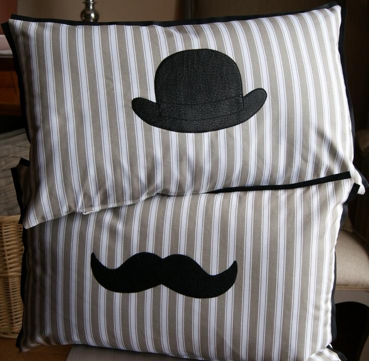 Coussin moustache Mr Augustin (housse)