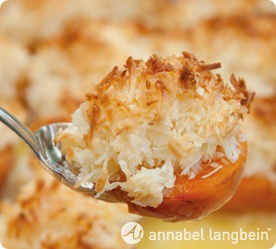 Annabel-Langbein Apricots with Macaroon Topping