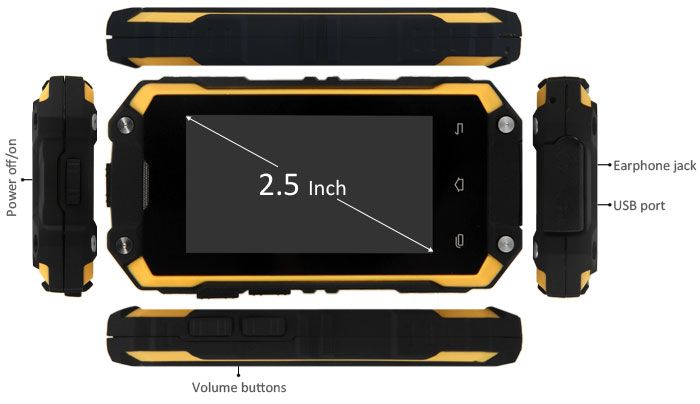 M13 3G 2.5 inch Android 4.2 Smartphone Waterproof / Anti-Fall / Dustproof / MTK6572 1.0GHz Dual Core WiFi-65.01 and Free Shipping | GearBest.com Mobile